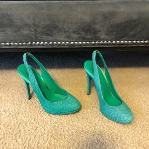 Brian Atwood sling back heels.